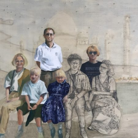Ode to my family (oil and pencil on plywood, 42x60cm, 2019)