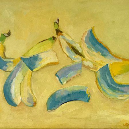 Bananas (acrylic on canvas, 30x40cm, 2021)